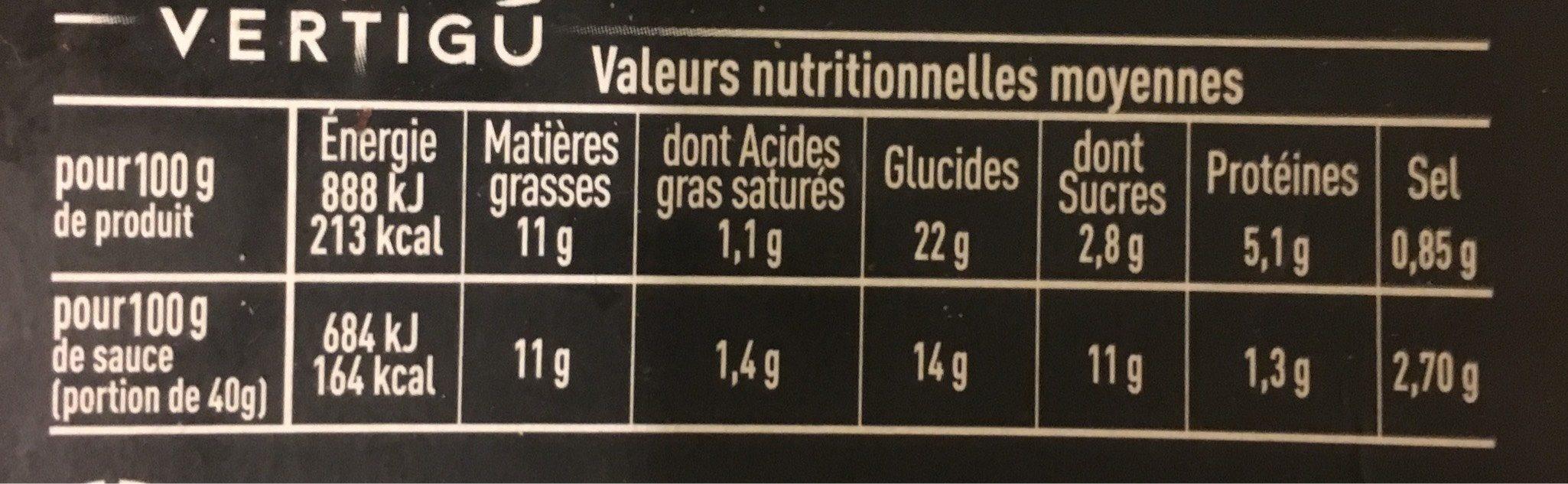 Les cuisinés pois chiches carottes cum - Voedingswaarden