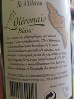 vin de pays charentais - Ingrédients - fr