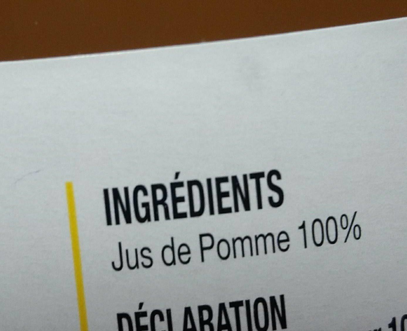 Jus de pomme trouble - Ingrediënten