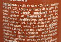 Sauce Burger - Ingrediënten