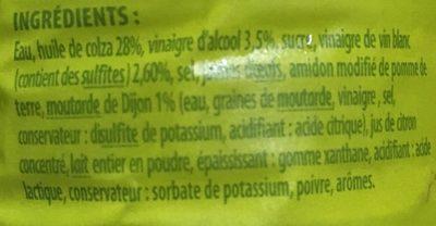 Sauce crudités nature - Ingredients