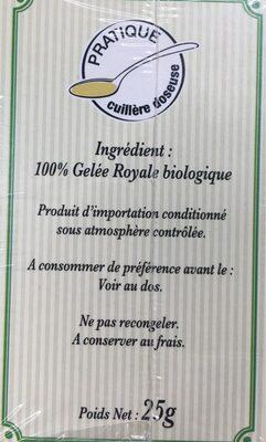 Gelee royale - Ingrediënten