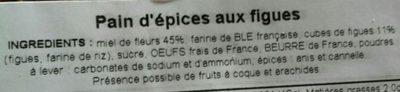 Pain d'épices aux figues - Ingredients
