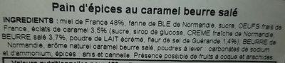 Pain d'épices caramel beurre salé - Ingredients