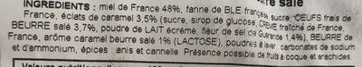 Pain d'Épices au Caramel Beurre Salé - Ingrediënten - fr