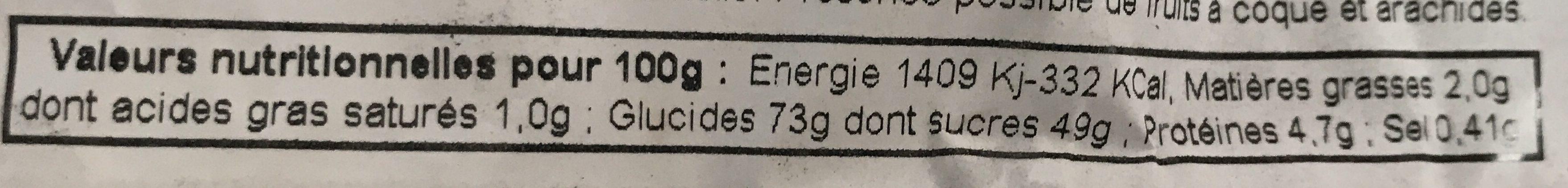 Pain d'Épices au Caramel Beurre Salé - Voedingswaarden - fr