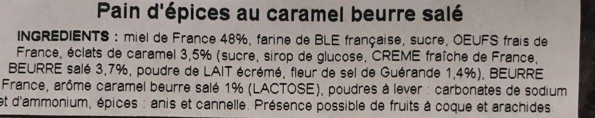 Pain d'épices caramel au beurre salé - Ingredients