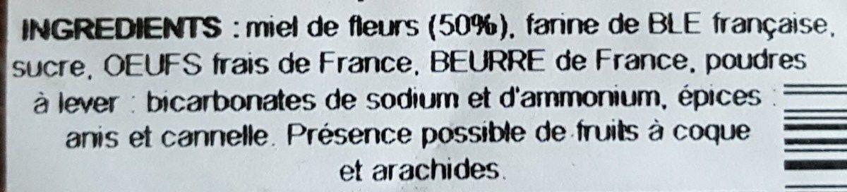 Pain d'épices - Ingredients
