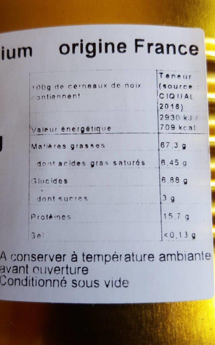 Koki cerneaux de noix - Voedingswaarden