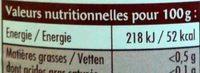 Purée Pommes Abricots - Nutrition facts - fr