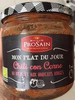 Chili con carne boeuf, haricots rouges et petits légumes - Product - fr