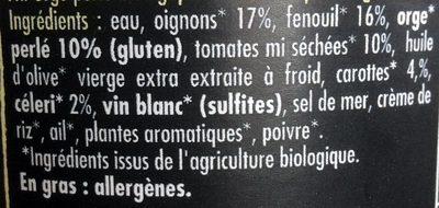 Orgetto Mediterraeenne Legumes 355G - Ingrédients