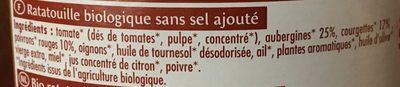 Ratatouille sans sel ajouté - Ingrediënten - fr