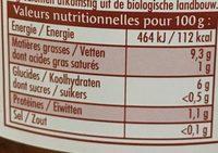 Ratatouille sans sel ajouté - Voedingswaarden - fr