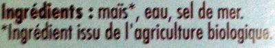 Maïs Doux - Ingrédients