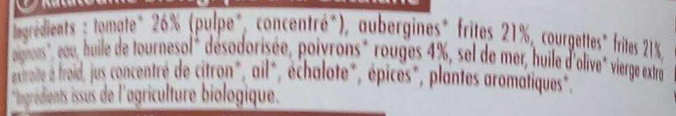 Ratatouille à la Catalane - Ingredients - fr