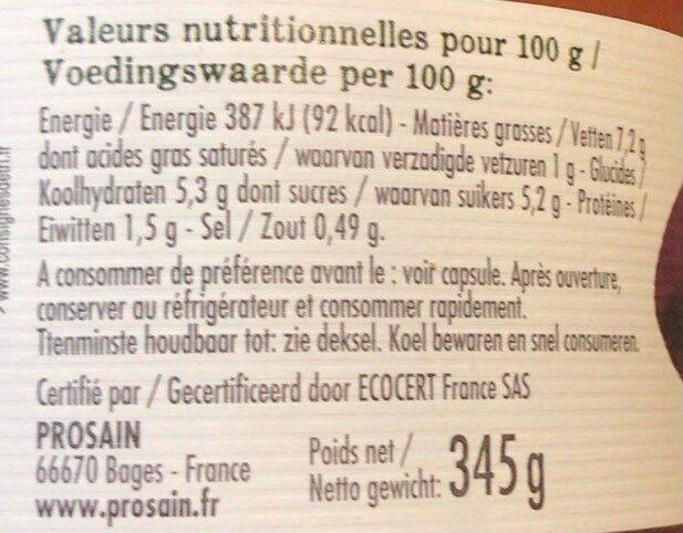 Ratatouille à la Catalane - Nutrition facts - fr