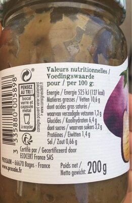 Caviar D'aubergine Grillee - Valori nutrizionali - fr
