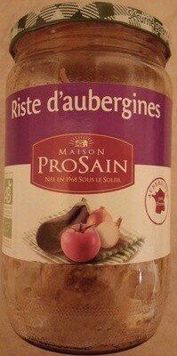 Riste d'aubergines cuisinée aux oignons et poivrons - Prodotto - fr