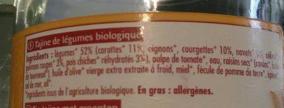Tajine du soleil aux 7 légumes - Ingrédients - fr