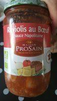 Raviolis au Bœuf sauce Napolitaine - Product - fr