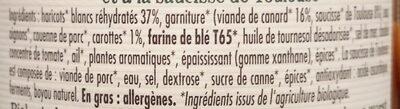 Cassoulet supérieur de canard et saucisse de Toulouse - Ingrediënten - fr