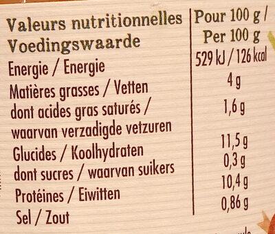 Cassoulet supérieur de canard et saucisse de Toulouse - Voedingswaarden - fr
