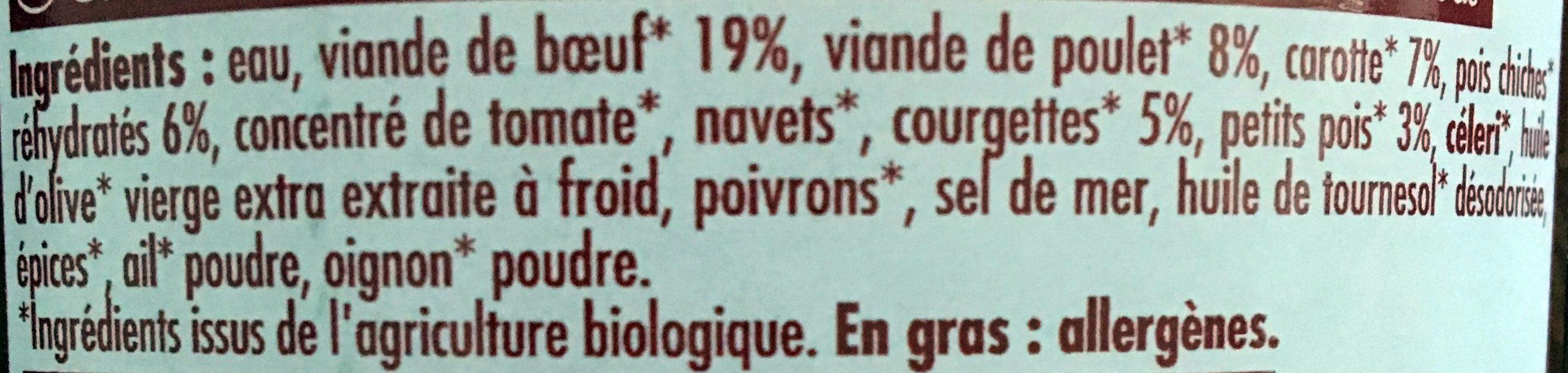 Couscous Au Boeuf Et Au Poulet - Ingrédients - fr