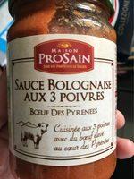 Sauce Bolognaise Aux Trois Poivres - Produit