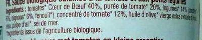 Sauce Pomodoro Tomates coeur de boeuf - Ingrédients