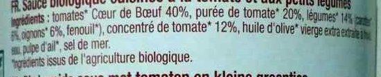 Sauce Pomodoro Tomates coeur de boeuf - Ingrédients - fr