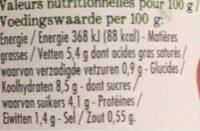 Sauce Pomodoro Tomates coeur de boeuf - Informations nutritionnelles - fr