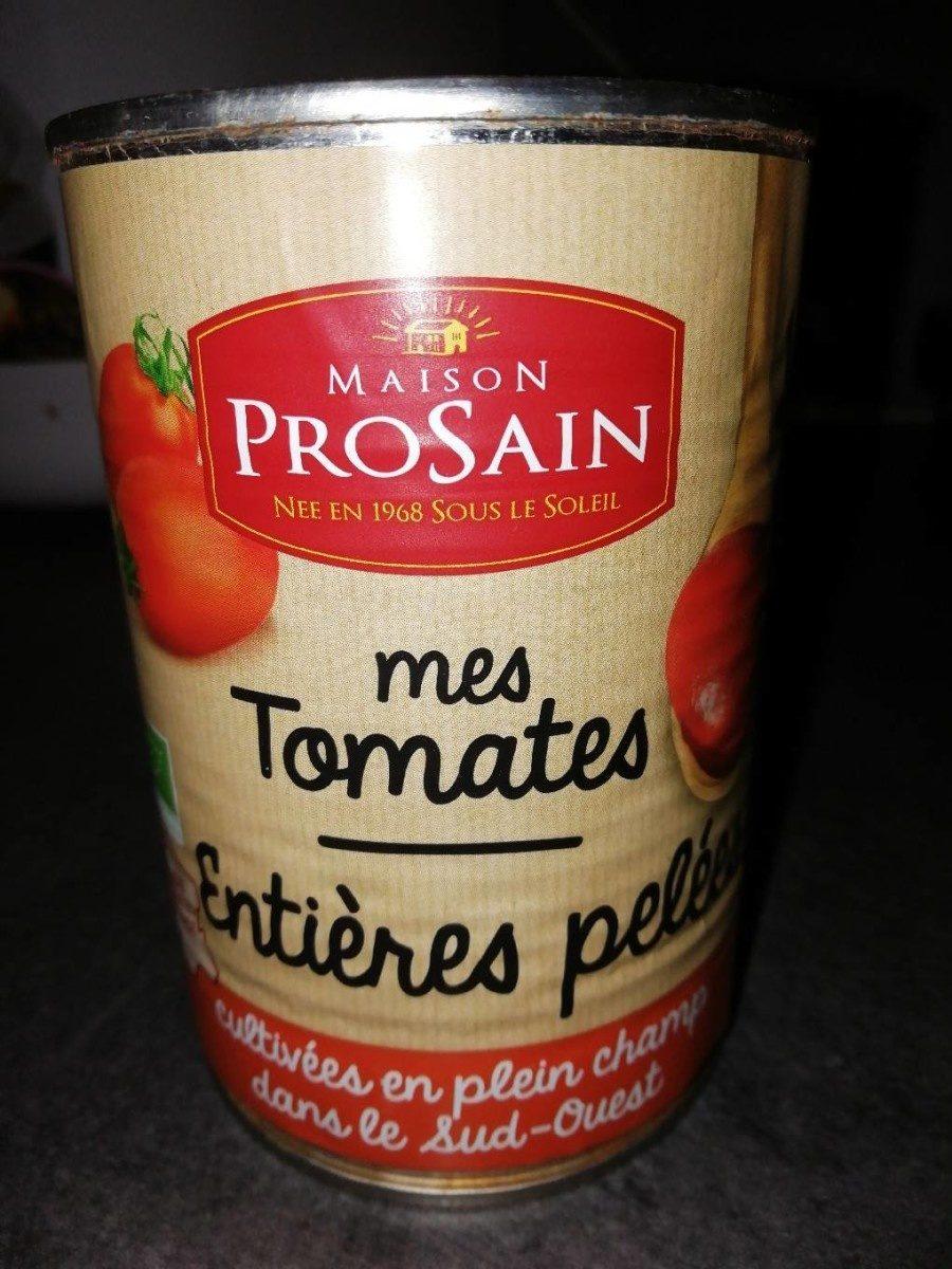 Mes tomates entières pelées - Produit