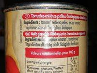 Mes tomates entières pelées - Ingrédients