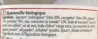 Ratatouille Bio à la Catalane - Ingrédients