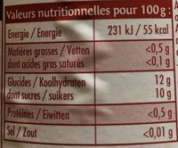 Purée Pommes Poires Williams - Nutrition facts