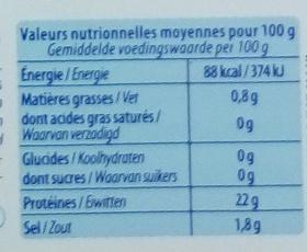 Crevettes entières - Voedingswaarden