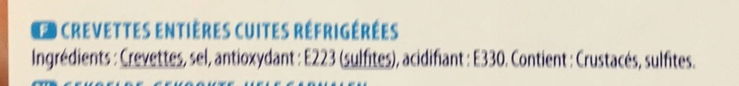 crevettes entières - Ingrediënten - fr
