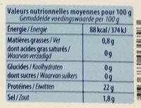 crevettes entières - Nutrition facts - fr