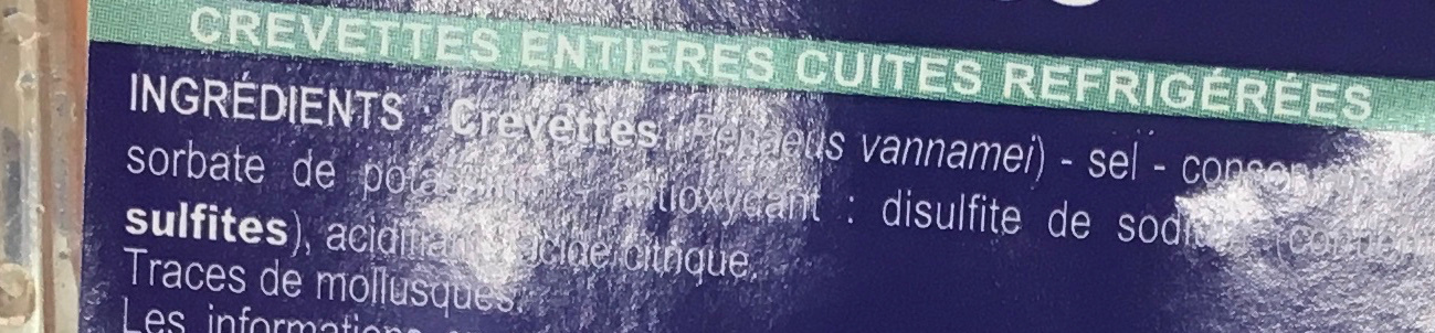Crevettes - Ingrediënten - fr