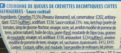 Couronne de Crevettes + Sauce Cocktail - Ingredients - fr