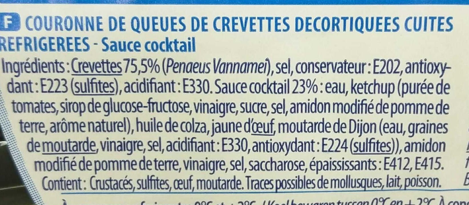 Couronne de Crevettes + Sauce Cocktail - Ingrediënten - fr