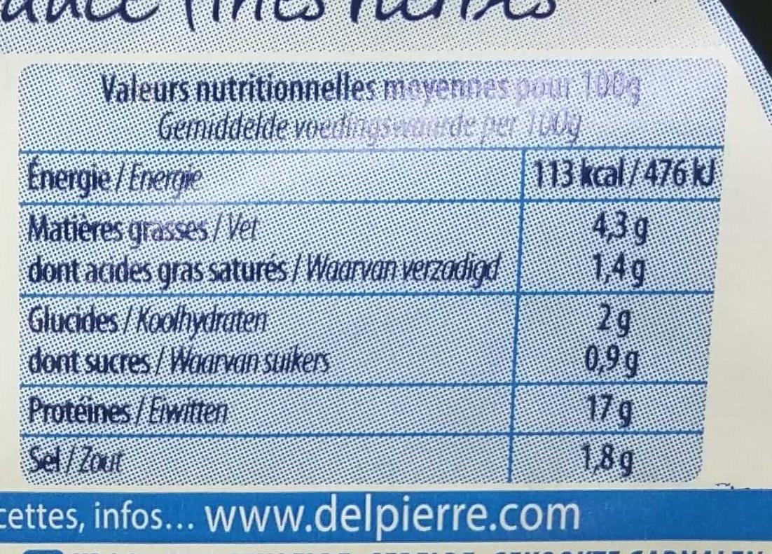 Couronne de crevettes sauce Fine Herbes - Voedingswaarden - fr
