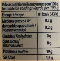 Crevettes royales - Nutrition facts