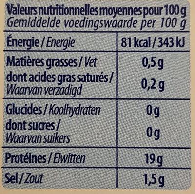 Crevettes royales - Voedingswaarden - fr