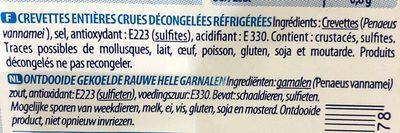 Gambas crues 30/40 400g - Ingrediënten - fr