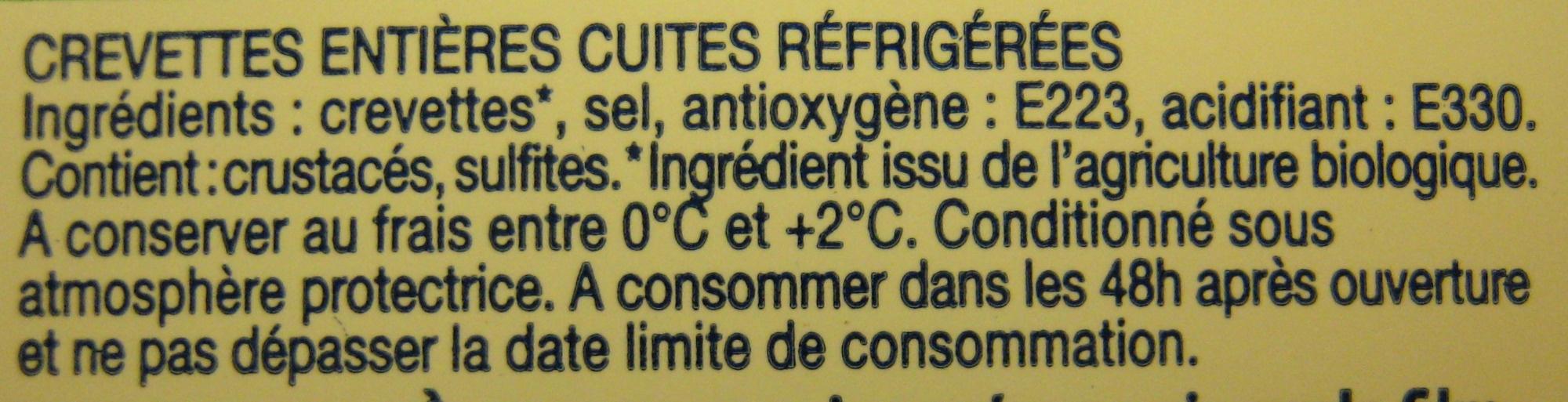 Crevettes Bio Delpierre - Ingrediënten - fr
