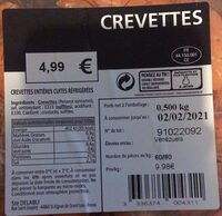 Crevettes entieres cuites refrigerees - Product - fr