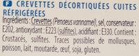 Crevettes décortiquées - Ingrédients