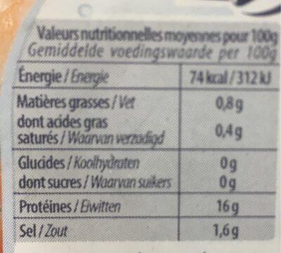 Crevettes cocktail - Voedingswaarden - fr